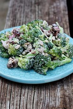 Healthy broccoli raisin salad. #vegetarian