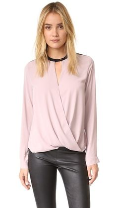 And B Long Sleeve Signature Blouse