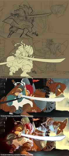 Chrono Trigger-Crono Versus the Dragon  tutorial by HeavyMetalHanzo.deviantart.com on @DeviantArt