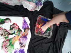 Spontaneous Play: Painting with Feet « Counting by 12s