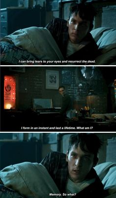 """""""Memory. So what?"""" - Penguin and Nygma #Gotham"""