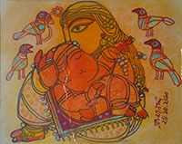 Ramananda Bandyopadhyay                               Mixed media on paper                               12 x 16 in INR 150000
