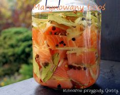 marynowany-losos Seafood Salad, Fish And Seafood, Fish Recipes, Appetizer Recipes, Good Food, Yummy Food, Appetisers, Fish Dishes, I Foods