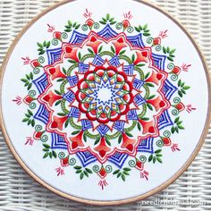 Embroidered Kaleidoscope via Needlenthread.com