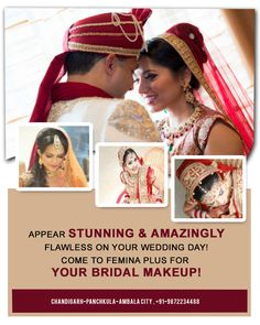Take note, bride-to-be from #Chandigarh, #Panchkula & #Ambala? These people can make your dream of looking like a #princess on your #fairytale #wedding come true at Femina Plus  Get in Touch @ 0172 4622884 (Chd), 4025050 (PKL) & 2444244 (Ambala)