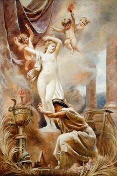 Pygmalion and Galateia