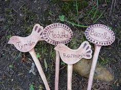 Výsledek obrázku pro keramické jmenovky na bylinky