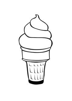 Ice cream cone printable coloring page, Free Coloring page Ice Crem, Free Coloring Page Template Printing Printable Food Ice Cream, Free Coloring Pages for Kids Christmas Coloring Sheets, Printable Christmas Coloring Pages, Printable Coloring Sheets, Free Coloring Sheets, Ice Cream Coloring Pages, Flower Coloring Pages, Coloring Book Pages, Coloring Pages For Kids, Flower Images Free