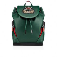 6774460ad55420 CHRISTIAN LOUBOUTIN Explorafunk Backpack in Jungle #ChristianLouboutin