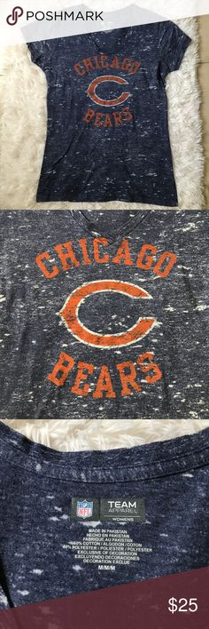 "NFL Chicago Bears Shirt SZ Medium This new Without Tags NFL women's Chicago Bears Shirt is perfect for game days! This shirt is in a women's size medium. The length of the shirt is 25"", the bust is 36"" and the sleeve length is 5"". NFL Tops Tees - Short Sleeve"