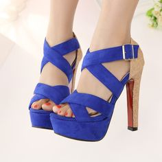Roman style high-heeled sandals fish head waterproof thin heel women shoes