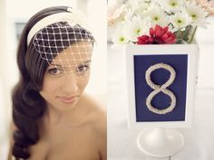 """""""Nautical Numbers"""" frame numbers made with rope to number your nautical theme wedding reception tables - a black background would look good too :)"""