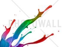 Colorful Paint Splash - Wall Mural & Photo Wallpaper - Photowall