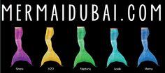 Mermaid Tail colours and Models - Mermaid Dubai