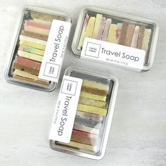 Travel Soap — Farmasoapia Handmade Travel Soaps in Reusable Tin Handmade Soap Packaging, Handmade Soaps, Soap Packing, Soap Net, Soap Shop, Honey Soap, Soap Making Supplies, Homemade Soap Recipes, Lotion Bars