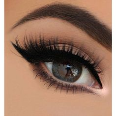 Best Eye Makeup Looks for Brown Eyes ❤ liked on Polyvore featuring beauty products, makeup, eye makeup, eyes and beauty