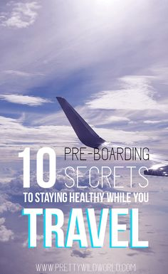 Avoid getting sick while you're traveling through these useful travel tips and tricks to stay healthy while you fly! Don't let germs ruin your wonderful holiday by following these pre-boarding secrets to stay healthy. http://go.jeremy974.prodev.4.1tpe.net