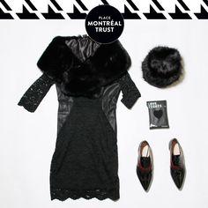 #PMTLook  Pour un #Noël #glamour…   For a glamorous #Christmas…  #Robe et collants - VERO MODA. #Fourrure, #chapeau et #chaussures - Winners. #OOTD #Shopping #Mtl