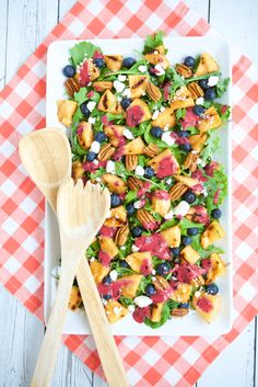 Grilled Cantaloupe Salad with Blueberry Ginger Vinaigrette ~ http://jennabraddock.com
