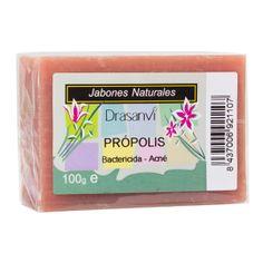 Jabón de Própolis. Propiedades naturales antibacterianas y curativas, ideal para el acné y la piel inamada.