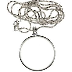SE MG2016S 2-Inch 5 times Power Necklace Magnifier with 36-Inch Silver Chain