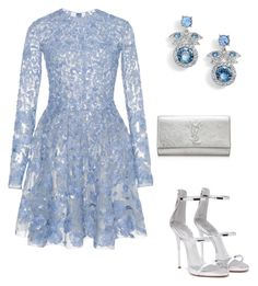 """Untitled #398"" by shathaalawwad ❤ liked on Polyvore featuring Zuhair Murad, Giuseppe Zanotti, Givenchy and Yves Saint Laurent"