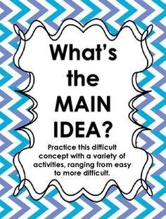 FREE Main Idea practice
