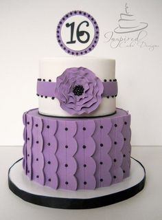 Purple Birthday Cake with black accents