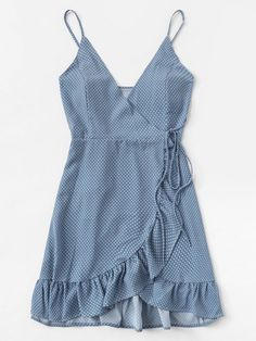 Polka Dot Ruffle Hem Knot Asymmetrical Dress Polka Dot Ruffle Hem Knot Asymmetrical Dress,All Dressed Up Very cute outfits inspo ideas inspirations clothes Cute Dresses, Casual Dresses, Fashion Dresses, Elegant Dresses, Formal Dresses, Baby Dresses, Cute Summer Dresses, Dresses Dresses, Dress Summer