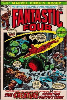 Fantastic Four *Bronze Age / Marvel Comics / The Mole Man* by on Etsy Comic Books For Sale, Marvel Comic Books, Comic Books Art, Book Art, Comic Superheroes, Jack Kirby, Fantastic Four Comics, Mister Fantastic, Mole Man