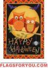 Happy Owl-oween Garden Flag