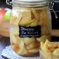 Stovetop Apple Pie Filling!  This recipe replaces 1 can of store bought apple pie filling!