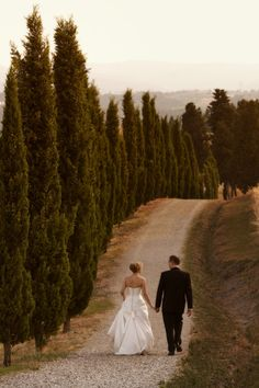 Italian Wedding Photo great idea for the second shoot. Would love to include cypress trees.