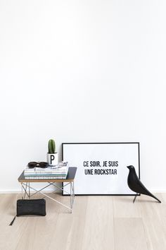 Het Poster Project / Charlotte Ceyssens / free printable / gratis poster / free wall art / free poster / free print / ce soir je suis une rockstar / rock quote / www.toldyouso.be
