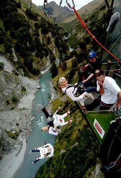 "NEW ZEALAND! Do the Canyon Swing with the ""Chair of Death""  in New Zealand! Amazing! #NewZealand"