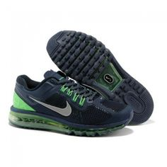 nike air max shoes for women 2013 | Perfect Nike Air Max 2013 Women Running Shoes Navy/Green-Grey 1019 USD ...