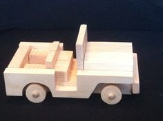 Handcrafted Wooden Toy Jeep