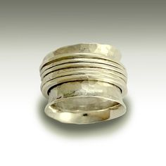 Wedding band  Sterling silver band with silver by artisanlook, $164.00