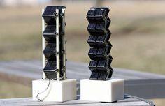 Pesquisadores do MIT descobriram que a produção de energia a partir de células solares fotovoltaicas pode ser aumentada pelo empilhamento de células em configurações 3D como torres ou cubos. Os desenhos em 3D pode gerar em qualquer lugar do dobro  até 20 vezes a quantidade de energia que os painéis solares planos com a mesma superfície de base.