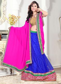 Glamorous Patch Border and Zari Work A Line Lehenga Choli  | Wedding Lehenga Choli | Bridal Lehenga Choli |  Designer Lehenga Choli | Item Code: 3777