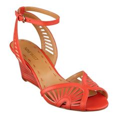 Ryker, our huarache-inspired sandal is set atop a slender stacked heel for an unfussy, yet stylish look. Ankle strap with adjustable buckle closure. Padded footbed for all-day comfort. Leather upper. Man-made lining and sole. Imported. 2 1/2 inch stacked wedge heels. Women's shoes. Wedges.