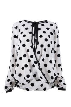 Blusa cruzada estampada $469