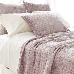 Pch Matte Velvet Dusty Plum Quilt Master Bedroom