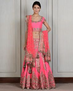 How much you should be prepared to spend on a Manish Malhotra, Tarun Tahiliani, Sabayasachi wedding outfit. Cost of an Indian wedding outfit Pink Bridal Lehenga, Indian Wedding Lehenga, Indian Bridal Wear, Indian Wedding Outfits, Bridal Outfits, Indian Outfits, Pink Lehenga, Pakistani Outfits, Indian Weddings