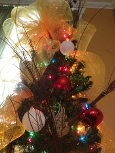 Branches, decoration balls and even more.