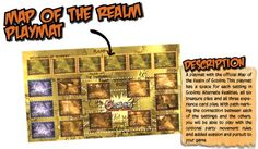 Preview of Kickstarter Reward Description for Goblins Alternate Realities: Map of the Realm Playmat #GoblinsGame
