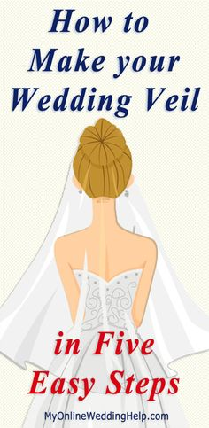 How to Make a Wedding Veil in 5 Easy Steps. – PrOuD mAmA How to Make a Wedding Veil in 5 Easy Steps. Step-by-step instructions and videos showing how to make your own wedding veil. Veil Diy, Diy Wedding Veil, Wedding Hair, Wedding Stuff, Bridal Hair, Bridal Veils And Headpieces, Wedding Dresses, Lgbt Wedding, Wedding Bride
