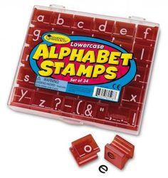 Alphabet-Stempel Kindergarten | Geschenkidee Kinder Vorschule | Schreiben lernen | erste Worte