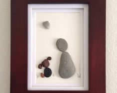 Arte, perro y dueño, amante de los perros, arte de pared, decoración casera, regalo único de piedra, roca en forma de corazón