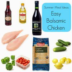 Easy Summer Meal Idea:  Easy Balsamic Chicken